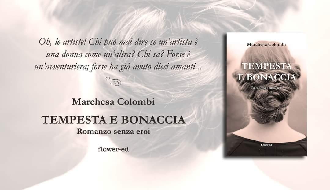 """Banner romanzo """"Tempesta e bonaccia"""" della Marchesa Colombi"""